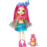 Кукла Enchantimals Пикки Какаду с любимой зверюшкой, 15 см, FJJ21