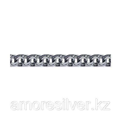 Браслет SOKOLOV из черненного серебра, без вставок, бисмарк 995141504 размеры - 22 23 24