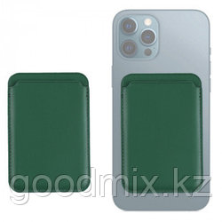 Магнитный кардхолдер для iPhone (зеленый)