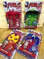 51187A Hero attack Мстители Маска перчатка + часы стреляет фишками 4 вида 34*19см