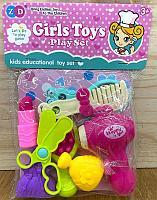 892-319 Girls toys фен набор с аксессуарами в пакете 23*17см