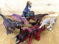 6888 Dinosaur world Динозавры юрского периода 6 видов цена за 1шт 39*13см