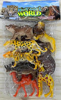 Q701-8 Дикие животные 8шт в пакете Happy Animal World 28*22см