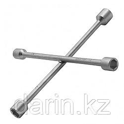 Ключ-крест баллонный, 17 х 19 х 21 х 22 мм, толщина 14 мм Сибртех