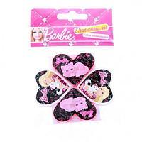 Набор канцелярский Barbie в пакете:точилка 2шт, ластик 2шт