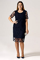 Женское осеннее кружевное синее нарядное платье Панда 22480z синий 44р.