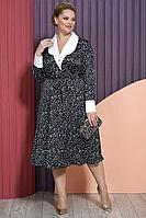 Женское осеннее черное нарядное большого размера платье Alani Collection 1475 54р.