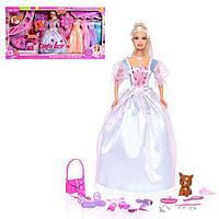Кукла-модель 'Елена' с набором платьев, аксессуарами и питомцем, МИКС
