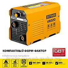 Сварочный аппарат инверторный ММА, 220 А, STEHER