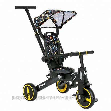 PITUSO Велосипед трехколесный Leve, складной, разм. упак. 65х34х31 см, Yellow/Желтый