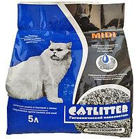 Сибирская Кошка Catlitter carbon MIDI Наполнитель комкующийся 5 л