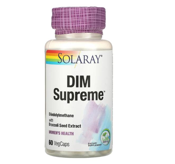 Solaray, DIM Supreme, 60 вегетарианских капсул
