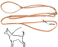 Ринговка шнур капроновая бежевая 5мм с кольцом