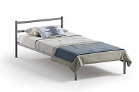 Кровать односпальная Мета, Серый, Квадрат (Россия)