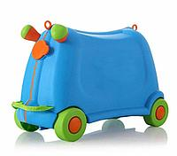 Детский чемодан Baby yuga на колесиках синий