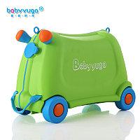 Детский чемодан Baby yuga на колесиках зеленый