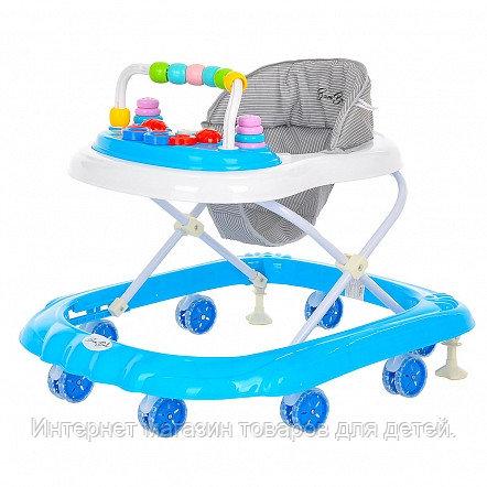 BAMBOLA Ходунки Горошинка (8 силик.колес,игрушки,муз) 6 шт в кор.(72*61,5*57) Grey/Голубой-серый