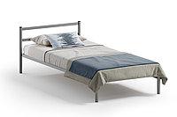 Кровать односпальная Мета с матрасодержателем, Серый, Квадрат (Россия)