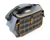 """Сумка рыболовная""""СЛЕДОПЫТ""""Base Lure Bag L, 36х22х15 см, цв. серый+3 коробки Luno 20/2/ арт.PF-BBA-02"""