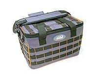 """Сумка рыболовная""""СЛЕДОПЫТ"""" Base Lure Bag XL,38х26х25 см, цв.серый+5 коробок Luno 28/2/ арт.PF-BВА-01"""