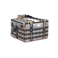 """Сумка рыболовная""""СЛЕДОПЫТ"""" Base Lure Bag XXL,38х38х25 см,цв. серый+7 коробок Luno 28/2/арт.PF-BBA-03"""
