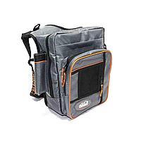 """Сумка рыболовная """"СЛЕДОПЫТ"""" Fishing Shoulder Bag, 40х43х10 см, цв. серый/4/ арт.PF-BM-03"""