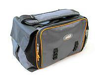 """Сумка рыболовная """"СЛЕДОПЫТ"""" Lure Bag XL, 40х28х24 см, цв. серый + 5 коробок Luno 28/2/ арт.PF-BBK-01"""