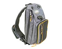 """Сумка-рюкзак рыболовная """"СЛЕДОПЫТ"""" Sling Shoulder Bag, 44х24х17 см, цв. серый/5/ арт.PF-BM-01"""