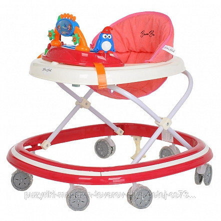 BAMBOLA Ходунки ОАЗИС (7 силик.колес,игрушки,муз) 6 шт в кор.(64*56*52) RED Красный