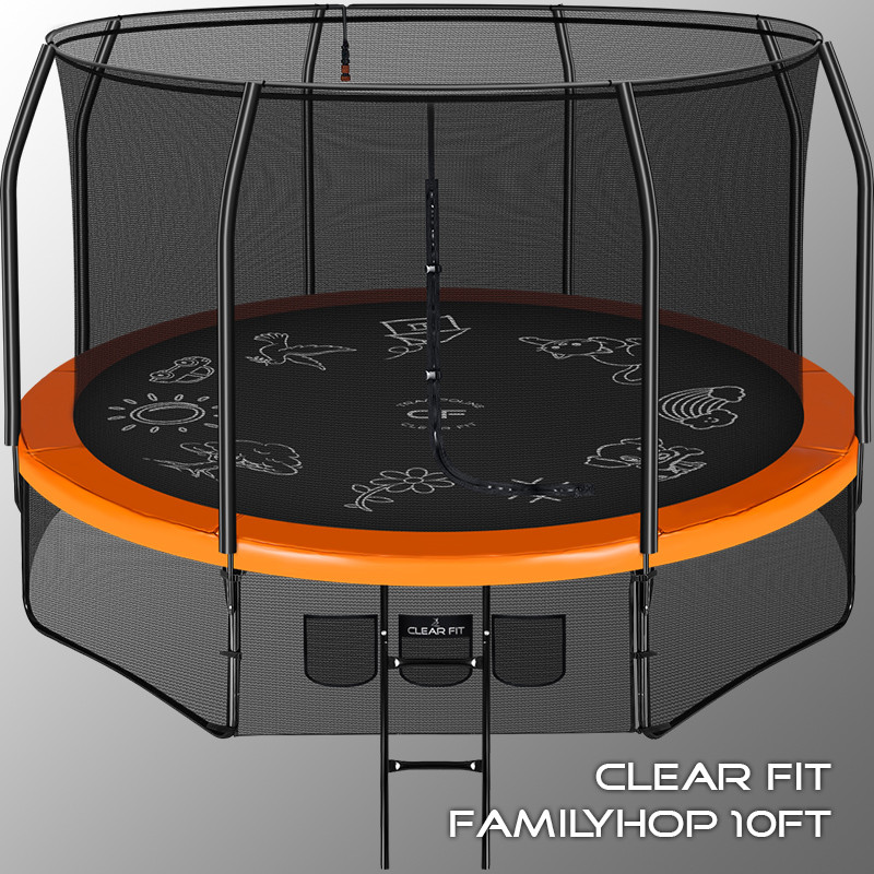 Каркасный батут Clear Fit FamilyHop 12Ft