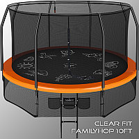 Каркасный батут Clear Fit FamilyHop 12Ft, фото 1