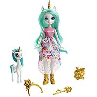 Enchantimals Royal Кукла Энчантималс Роял Королева Единорог Юнити и питомец Степпер, 20 см