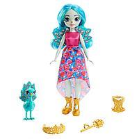 Enchantimals Royal Кукла Энчантималс Роял Королева Павлин Парадайз и питомец Рейнбоу, 20 см