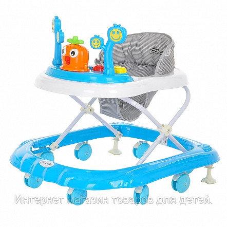 BAMBOLA Ходунки Рыжик (8 пласт.колес,игрушки,муз) 6 шт в кор.(71*60*60) Blue/Голубой