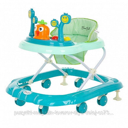 BAMBOLA Ходунки Рыжик (8 пласт.колес,игрушки,муз) 6 шт в кор.(71*60*60) Green/Зеленый