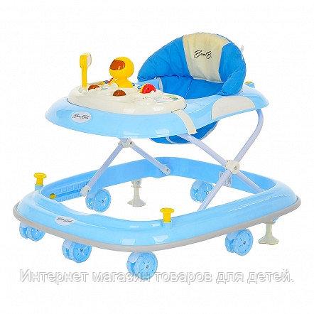 BAMBOLA Ходунки Юный гонщик (7 силик.колес,игрушки,муз) 4 шт в кор.(71*64*40) Blue/Голубой