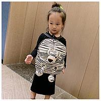Детский рюкзак с мягкой игрушкой Тигр