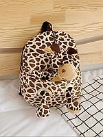 Детский рюкзак с мягкой игрушкой Жираф