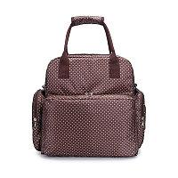 Многофункциональная сумка-рюкзак для мамы коричневый