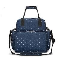 Многофункциональная сумка для мамы синий/горох