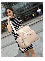 Многофункциональная сумка-рюкзак для мамы бежевый