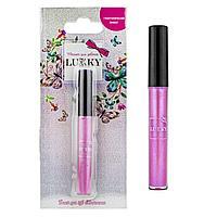 Lukky: Голографический блеск для губ 3 мл, розовый, с ароматом черной смородины, блистер