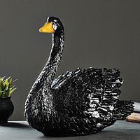"""Копилка """"Лебедь"""" средний черный 43см"""