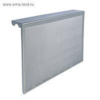 """Экран на чугунный радиатор """"Лидер"""", 690х610х150 мм, 7 секций, металлический, цвет металлик"""