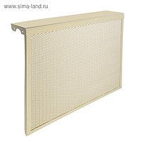 "Экран на чугунный радиатор ""Лидер"", 690х610х150 мм, 7 секций, металлический, бежевый"