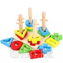 Деревянная логическая пирамидка, фото 2