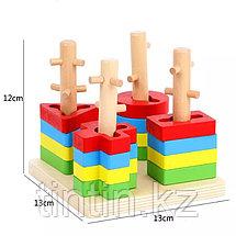Деревянная логическая пирамидка, фото 3