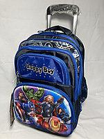 Школьный рюкзак на колесах для мальчика с 1-го по 3-й класс. Высота 47 см, длина 27см,ширина 20 см., фото 1