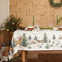 Набор столовый Этель 'Forest animals' скатерть 150х110 +/-2см с ГМВО, салфетки 40х40см-4шт