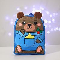 Рюкзак детский новогодний 'Мишка со звёздочкой' 22х17 см